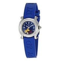 Chopard Happy Beach Jeweled Fish Steel Blue Mini Ladies Watch