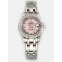 Rolex DATEJUST Pink Dial With  Roman Hour Marker