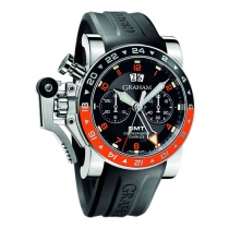 Graham GMT Oversize Chronofighter - Red and Black Bezel 2OVASGM