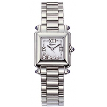 Chopard Happy Sport Classic Square 5 Floating Diamonds Ladies Watch