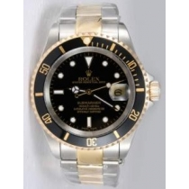 Rolex SUBMARINER 18K/SS Two Tone Black Dail Blac