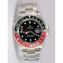 Rolex GMT-MASTER II Black Dail 24 Hour Black And