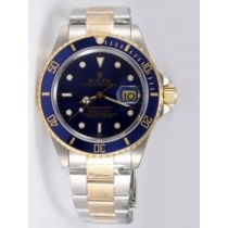 Rolex SUBMARINER 18K/SS Two Tone Blue Dail Blue