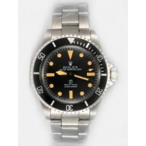 Rolex SUBMARINER Full 18K White Gold Black Dail
