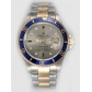 Rolex SUBMARINER 18K/SS Two Tone Gray Dail Blue