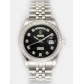 Rolex Day Date Black Dial With CZ Diamond  Hour